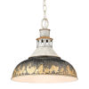 This item: Kinsley Aged Galvanized Steel 14-Inch One-Light Pendant with Antique Black Iron Shade