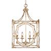 This item: Laurent Antique Ivory Four-Light Pendant