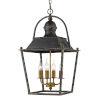 This item: Christoff Antique Black Iron 15-Inch Four-Light Pendant