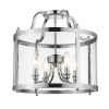 This item: Payton Chrome Four-Light Semi-Flush