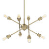 This item: Axel Olympic Gold Seven-Inch Eight-Light Mini Chandelier