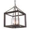 This item: Smyth Gunmetal Bronze Clear Glass 12-Inch Three-Light Chandelier
