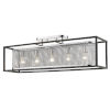 This item: London Chrome 36-Inch Five-Light Semi Flush Mount with Outer Cage