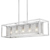 This item: London Chrome 36-Inch Five-Light Island Pendant with Chrome Outer Cage