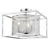 This item: London Chrome 15-Inch Three-Light Semi Flush Mount with Chrome Outer Cage