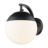 This item: Dixon Black Seven-Inch One-Light Wall Sconce with Opal Glass