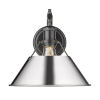 This item: Orwell Matte Black 10-Inch One-Light Wall Sconce with Chrome Shade