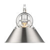 This item: Orwell Chrome 10-Inch One-Light Wall Sconce with Pewter Shade