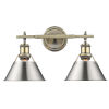 This item: Orwell AB Aged Brass 18-Inch Two-Light Bath Vanity with Pewter Shade