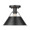 This item: Orwell Matte Black 10-Inch One-Light Flush Mount
