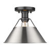 This item: Orwell Matte Black 10-Inch One-Light Flush Mount with Pewter Shade
