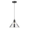 This item: Orwell Matte Black 10-Inch One-Light Pendant with Chrome Shade
