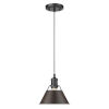 This item: Orwell Matte Black Eight-Inch One-Light Mini Pendant with Rubbed Bronze Shade