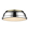 This item: Duncan Aged Brass 14-Inch Two-Light Flush Mount with a Chrome Shade