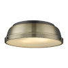 This item: Duncan Matte Black 14-Inch Two-Light Flush Mount with Aged Brass Shade