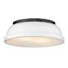 This item: Duncan Matte Black 14-Inch Two-Light Flush Mount with a Matte White Shade