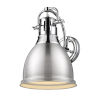 This item: Duncan CH Chrome Nine-Inch One-Light Wall Sconce with a Pewter Shade