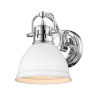 This item: Duncan CH Chrome Seven-Inch One-Light Bath Vanity with Matte White Shade