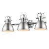 This item: Duncan CH Chrome 25-Inch Three-Light Bath Vanity with Pewter Shade
