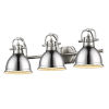 This item: Duncan PW Pewter 25-Inch Three-Light Bath Vanity with Chrome Shade