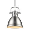 This item: Duncan CH Chrome Seven-Inch One-Light Mini Pendant with Rod and Pewter Shade