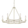 This item: Saxon French White 27-Inch Six-Light Chandelier