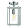 This item: Tribeca Pewter Seven-Inch One-Light Semi-Flush Mount