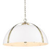 This item: Aldrich Aged Brass Matte White 25-Inch Five-Light Pendant