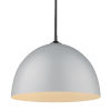 This item: Zoey Matte Black 16-Inch One-Light Pendant with Matte Gray Shade