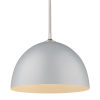 This item: Zoey Pewter 16-Inch One-Light Pendant with Matte Gray Shade