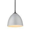 This item: Zoey Matte Black Nine-Inch One-Light Mini Pendant with Matte Gray Shade