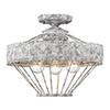 This item: Ferris Oyster Three-Light Semi-Flush Mount