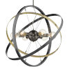 This item: Atom Brushed Steel Aged Brass Black 28-Inch Six-Light Chandelier