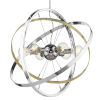 This item: Atom Chrome Aged Brass Silver 28-Inch Six-Light Chandelier