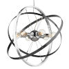 This item: Atom Chrome Brushed Steel Silver 28-Inch Six-Light Chandelier