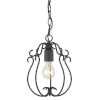 This item: Suzette Natural Black One-Light Mini Pendant
