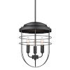 This item: Seaport Matte Black 12-Inch Three-Light Pendant