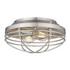This item: Seaport Pewter 12-Inch Two-Light Flush Mount