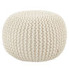 This item: Spectrum Rays Asilah Solid White Indoor/Outdoor Cylinder Pouf