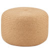 This item: Saba Solar Santa Beige Rosa Solid Indoor/Outdoor Cylinder Pouf