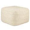 This item: Saba Sangam Solid Ivory Cuboid Pouf