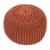 This item: Spectrum Rust Cylindrical Pouf