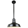 This item: Warehouse Black 16-Inch Aluminum Pendant with 24-Inch Downrod