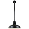 This item: Warehouse Black 16-Inch Pendant with 36-Inch Downrod