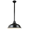This item: Warehouse Black 17-Inch Pendant with 12-Inch Downrod
