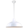 This item: Warehouse White 17-Inch Aluminum Pendant with 24-Inch Downrod