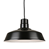 This item: Warehouse Black 18-Inch Steel Pendant