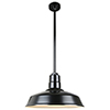 This item: Warehouse Black 18-Inch Aluminum Pendant with 36-Inch Downrod