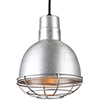 This item: Deep Bowl Shade Galvanized 10-Inch Pendant with Wire Guard