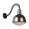 This item: Deep Bowl Shade Oil Rubbed Bronze QSNB-42 Arm 12-Inch Outdoor Wall Mount with Wire Guard
